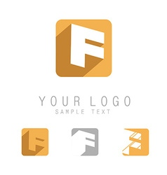 Flat letter F icon vector image