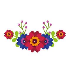 flowers leaves decoration arrangement natural vector image