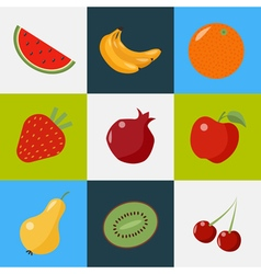 Fruits Set Healthy Food Vegeterian Food Healthy vector image
