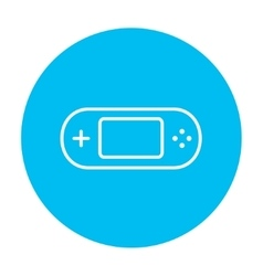 Game console gadget line icon vector image