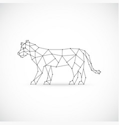 Geometric lioness abstract polygonal vector
