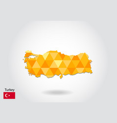 geometric polygonal style map of turkey low poly vector image