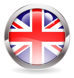 Gloss Button with British Flag vector