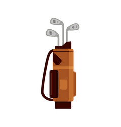 golf bag icon isolated on white background flat vector image