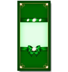 Greeting card green vector
