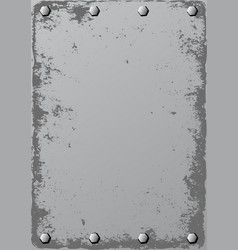 Grunge metal background with bolts vector