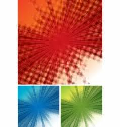 Halftone rays background vector
