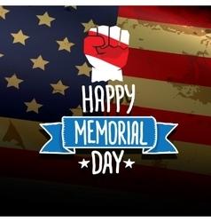 Happy Memorial Day background vector image