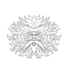 helios greek sun god head drawing black and white vector image
