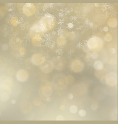 holidays abstract gold bokeh background with vector image