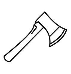 home axe icon outline style vector image