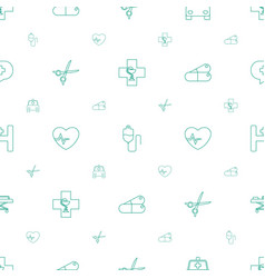 hospital icons pattern seamless white background vector image