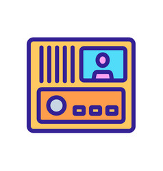 Intercom security system icon outline vector