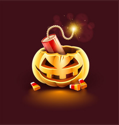 Jack-o-lantern pumpkin head vector
