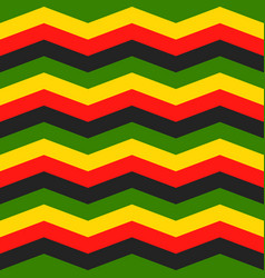 Jamaica chevron seamless pattern vector