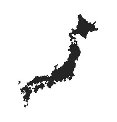 Japanese map island tourims destination vector