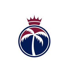 King palm logo concept icon vector