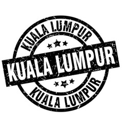 Kuala lumpur black round grunge stamp vector