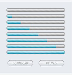 loading progress bar web interface with blue vector image