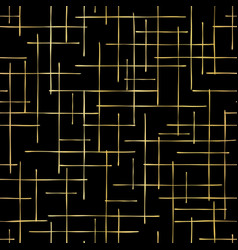 Luxe gold criss cross weave hand drawn vector