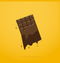 melted chocolate bar vector image