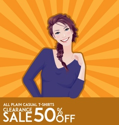 Model girl on sale poster vector