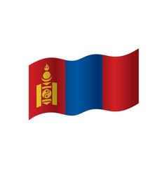 mongolia flag vector image