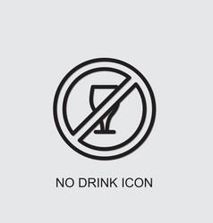 No drink icon vector