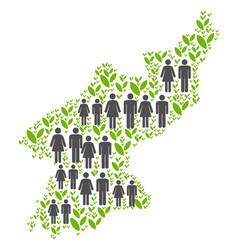 People north korea map vector