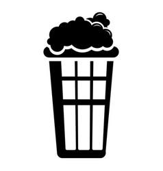 popcorn box icon simple black style vector image