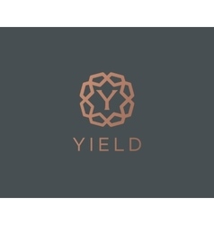 Premium letter Y logo icon design Luxury vector