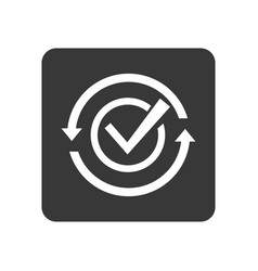 Quality control icon with checking sign vector
