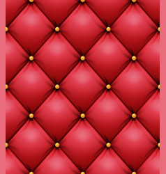 Quilted pattern red leather upholstery vector