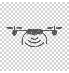 Radio Transmitter Airdrone Grainy Texture Icon vector