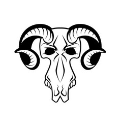 ram skull isolated religion totem animal symbol vector image