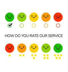 rating feedback scale vector image
