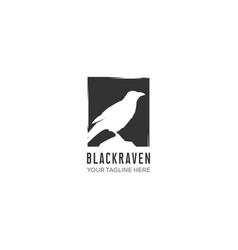 raven logo designs vector image