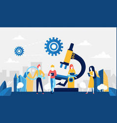science development technology concept with vector image