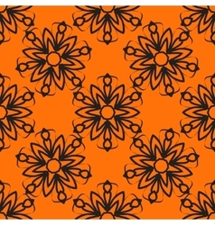 Seamless elegant Ornamental stylized flower vector image