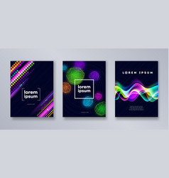 Set of multicolored modern backgrounds vector