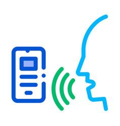 smartphone voice control icon vector image