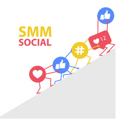 Smm promotion and social marketing - hashtags vector