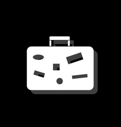 suitcase travel baggage icon flat vector image