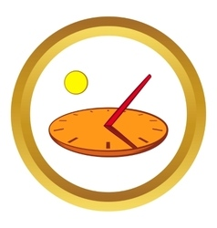 Sundial icon cartoon style vector