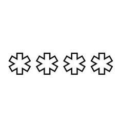 symbol enter password black color icon vector image vector image