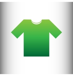 T-shirt sign Green gradient icon vector image