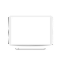 tablet with blank screens isolated on white vector image