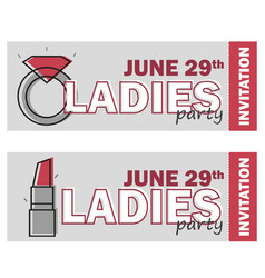 Template for ladies night party flyer vector