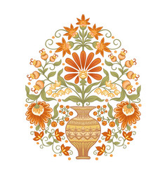 Tradition mughal motif fantasy flowers vector