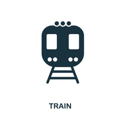 train icon in flat style icon design vector image